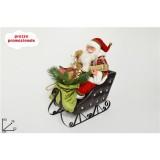 Babbo natale con doni su slitta h. 55 cm decorazione Natale arredo