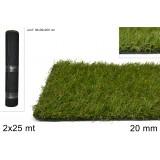 Rotolo erba sintetica prato sintetico h 2 cm 2x25 mt giardino