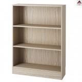 Libreria moderna in legno rovere scaffale kit  design mobile ufficio 3 ripiani