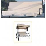 Cuscin dondolo 3 posti cuscini cuscino con schienale seduta colore beige ecrù