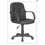Sedia poltrona ufficio in eco pelle nera direzionale studio operativa girevole