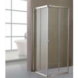 Box doccia cristallo trasparente mm. 6 cm. 80 x 140 lusso h. 185 cm profili alluminio