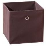 Contenitore scatola portaoggetti in tessuto cm 32x32x31h marrone