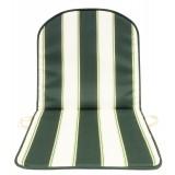 PZ 8 - cuscino sedia schienale basso double rigato verde psessore 2 cm