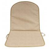 PZ 8 - cuscino sedia schienale basso double tortora 2 cm spessore