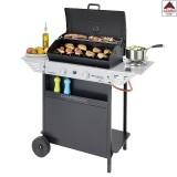 Barbecue a gas campingaz bbq con fornello doppia griglia 2 bruciatori termometro