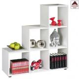 Libreria moderna a cubo scala moderna in legno bianca kit 6 bifacciale arredo