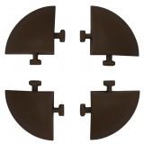 Confezione 4 angoli x pav.e40lm effetto legno