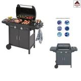 Barbecue a gas campingaz portatile in acciaio con fornello griglia coperchio