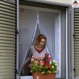 Tenda zanzariera magnetica 150x180h finestra porta balcone grigia con calamita