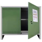 Armadio per fitofarmaci in lamiera zingata kit 2 ante 1 ripiano 100x40x80h