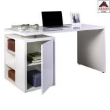 Scrivania con libreria ufficio bianca anta pc tavolo ufficio moderna funzionale