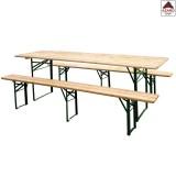 Set birreria 220x80 tavolo con panche richiudibile in legno da giardino pic nic
