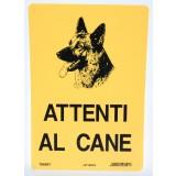 Letterfix targa attenti al cane avviso cantiere lavoro cm20x30