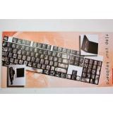 Pellicola adesiva per tastiera pc notebook qwerty fluo pietra