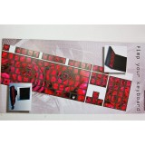 Pellicola adesiva per tastiera pc notebook qwerty fluo fiore