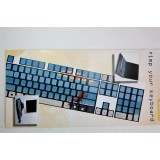 Pellicola adesiva per tastiera pc notebook qwerty fluo mare
