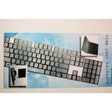 Pellicola adesiva per tastiera pc notebook qwerty fluo vintage