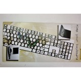 Pellicola adesiva per tastiera pc notebook qwerty fluo farfalle