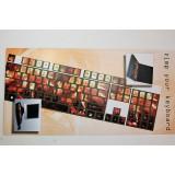 Pellicola adesiva per tastiera pc notebook qwerty fluo fuoco
