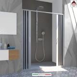 Box doccia a nicchia soffietto porta scorrevole parete in pvc 150 cm su misura