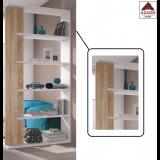 Libreria moderna bianca rovere kit scaffale in legno mobile soggiorno divisorio
