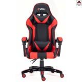 Poltrona da GAMING sedia cuscino blu rossa reclinabile per ufficio ergonomica