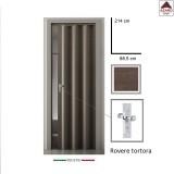 Porta a soffietto in pvc effetto legno scorrevole su misura regolabile maniglia