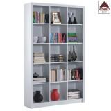 Libreria moderna bianca kit scaffale mobile ripiani mensole cubo design ufficio
