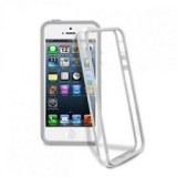 Cover bumper slim 0.8 custodia morbida sottile silicone per iphone 5 5s bianca