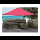 Vela ombreggiante triangolare 3,6x3,6x3,6 mt rosso telo parasole ombra giardino