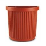 Vaso in plastica 'egeo' cm. 50x26x48h mezzaluna semicircolare a muro