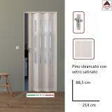 Porta a soffietto su misura in PVC con vetrini bianca scorrevole da interno