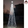 Albero di Natale luminoso 576 led luce fredda con stella luci luminaria esterno
