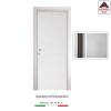 Porta interna a battente legno mdf laminato reversibile frassino bianca 210x70