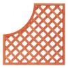PZ 4 - pannello grigliato legno c/arco cm90x90 mod.3