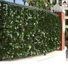 Siepe finta artificiale 1.5x3 sempreverde foglia lauro sintetica per recinzione