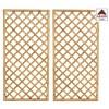 Pannello grigliato in legno impregnato rettangolare per recinzione giardino