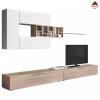 Parete attrezzata soggiorno moderna kit mobile tv pensile legno sospeso salotto