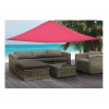 Vela ombreggiante triangolare 3,6x3,6x3,6 mt rosa telo parasole ombra giardino